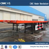 Wholesale double axle trailer flatbed container semi trailer with container twist locks from china suppliers