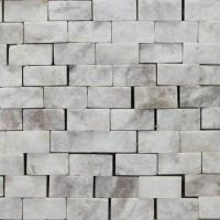 Wholesale 10 x 20 x 7 to 9mm Chip Natural Face Marble Stone Mosaic with Polished Surface Finish from china suppliers
