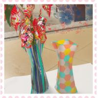 Wholesale PVC Flower Vase,folding flower vase , measure 27*14cm from china suppliers