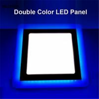 Wholesale Round/Square LED Panel Downlight 6W 9W 16W 3Model LED Panel Light Double Color LED Ceiling Recessed Lights Indoor from china suppliers