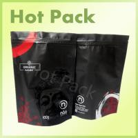 Wholesale Organic Matte Black Printed Stand Up Pouches , 100g - 1000g Tea Packaging Pouch from china suppliers