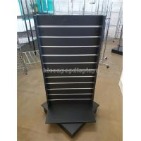 Wholesale Black Wood Spinner Display Stands Free Standing With Aluminum Panel / Detachable Hooks from china suppliers