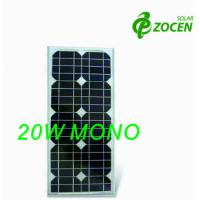 Quality 20W Mono Crystal Solar Panels 10 Years Product Warranty Ideal For 12V Battery for sale
