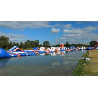 Quality 250 People Giant Inflatable Water Park Games Inflatable Wipeout Course TUV for sale