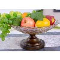 Wholesale tea color Fruits Bowl Glass With Stand from china suppliers