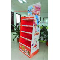 Wholesale Chocolate Cardboard Floor Display with steel bar under each shelf,bespoke Floor Display rack from china suppliers