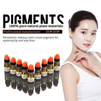 Wholesale Multi Color Organic 8ml Semi Permanent Makeup Pigments , Eyebrow Tattoo Ink from china suppliers
