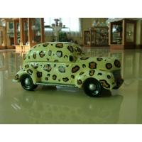 China Cute car shape Ceramic Cookie Jars as decorative cookies holders for kids on sale