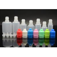 Wholesale Flat soft 0.5OZ / 1OZ E Liquid Bottles with child safety caps , White / Blue / Orange from china suppliers