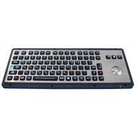 Wholesale Brushed backlight industrial metal trackball keyboards for industrial & military from china suppliers