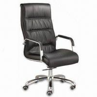 Wholesale Executive Chair with PU Upholster, Steel Armrest, High Density Foam and Steel Frame from china suppliers