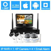 Wholesale 2.4G 720P Water Proof Wifi IP Full CCTV Cameras Kits With 2 Bullet + 2 Dome from china suppliers