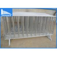 Wholesale Portable Crowd Control Barriers , Temporary Road Barriers 1.2 X 2.4m from china suppliers