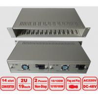 "Wholesale 2U 14-slot Media Converter Chassis, 19"" centralized management Rack, double power from china suppliers"