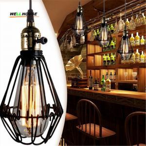Wholesale E27 socket Loft Droplight Retro Pendant Lights Mediterranean Sea Style Lamp 110-220v classicality Pendant lighting BS from china suppliers