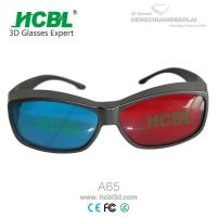 Wholesale Reuseable 3D Anaglyph Glasses Red Blue For Computer Game / Stereo Movie from china suppliers