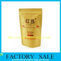 Wholesale Resealable Food Grade Stand Up Kraft Pouches , Paper Pouch Packaging For Tea from china suppliers