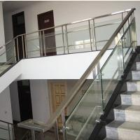 Wholesale Satin Surface Stainless Steel Guardrail / Brushed Steel Handrails For Stairs from china suppliers