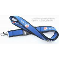 Wholesale ROHS approved neoprene rubber neck lanyards, neoprene SBR id badge ribbons, from china suppliers