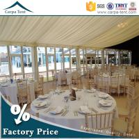 Wholesale Universal Glass Wall Tent  Clear Span Tents  for Events with Furniture/Floor/Lining from china suppliers