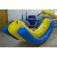 China Yellow Blue Inflatable Seesaw Rocker , Big Blow Up Water Toys For Adults on sale