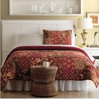 Wholesale Red Patchwork Quilt Bedding Set Cotton With Twin / Full / Queen / King Size from china suppliers