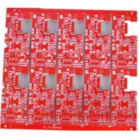 Wholesale Red Double Sided Board Manufacturing SMT Circuit Gold Finger White Silk Screen from china suppliers