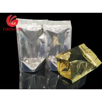 Wholesale Golden Stand Up Food Packaging Pouches with Zipper for Cereal , Coffee Beans from china suppliers