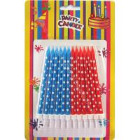 Wholesale Dots Painted Print Birthday Candles 12pcs 12 Holders Dia 0.55cm For Child Gift from china suppliers