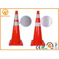 Wholesale 36 Inch Traffic Cones with Orange Red Reflective Tape Injection Mould PVC Material from china suppliers