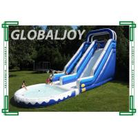 Wholesale Digital Printing Kids Water Inflatable Slide , Double Lane Inflatable Shark Slide from china suppliers