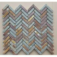 Wholesale Rust Slate Mosaic Tile Natural Stone Wall Mosaic Multicolor Stone Mosaic Floor Slate Mosaic Parquet from china suppliers