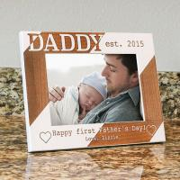 Wholesale Personalized Dad Picture Frame-Happy First Fathers Day-Wood Engraved-Fathers Day Gift-Firs from china suppliers