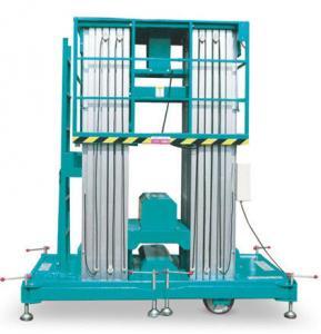 Wholesale Waterproof Aluminum Work Platform Single / Double Mast Hydraulic Lift Ladder from china suppliers