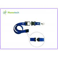 Wholesale 8gb / 16gb Blue Lanyard USB Flash Drives High Capacity for the teaching staff or student  of a school from china suppliers