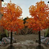 Buy cheap UVG garden ornament autumn fake dwarf maple tree for interior decoration 12ft high GRE071 from wholesalers