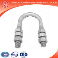 Buy cheap Hot-dip galvanized steel u bolt clamps from wholesalers