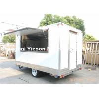 Wholesale White Ice Cream Mobile Concession Trailer Fast Food Vending Carts from china suppliers