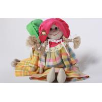 Wholesale Eco-friendly 100% linen fabric girl doll Hand-stitched toy gift for home decoration from china suppliers