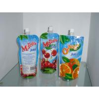 Wholesale Custom Sky Blue Plastic Spout Pouch Packaging Orange Juice Drink Packaging from china suppliers