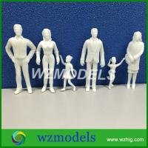 Architectural Scale Model Figure White Figure Passenger figure for Model Train Layout