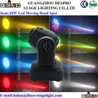 Buy cheap 10W LED Moving Head Spot AC90 - 245V Gobo Pattern Light 4 / 12channels from wholesalers