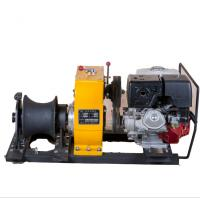 Wholesale 8 Ton Cable Winch Puller with Honda gasoline engine for power construction Cable Pulling from china suppliers