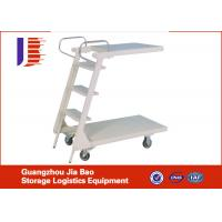 Wholesale OEM / ODM Mobile Warehouse Safety Metal Truck Step Ladder White / Blue from china suppliers