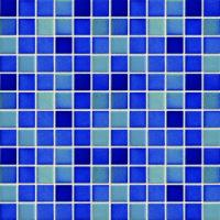 Wholesale Blue / Green Glossy Ceramic Mosaic Tiles For Exterior Wall 23x23mm from china suppliers