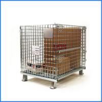Wholesale Industrial galvanized foldable roll metal wire mesh storage cage from china suppliers