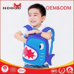 Wholesale Shark Shaped Waterproof 3D Cartoon Kids Preschool School Bags For Toddler from china suppliers