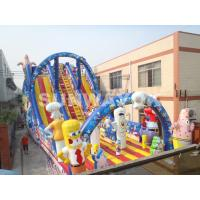 Wholesale Large outdoor commercial Inflatable Slide With Sunshine Arch For Garden from china suppliers
