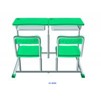Wholesale Mint Green Student Desk And Chair Set HDPE Iron Adjustable School Furniture from china suppliers