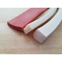 Wholesale One side Adhesive Close Cell Silicone Sponge Extrusion , Silicone Sponge Cord from china suppliers